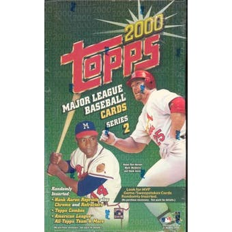 2000 Topps Series 2 Baseball Retail Box