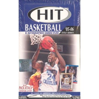 2005/06 Sage Hit Title Series Basketball Hobby Box