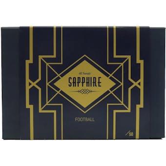 2021 Hit Parade Football Sapphire Edition Series 4 Hobby Box /50 Brady-McCaffrey-Wilson