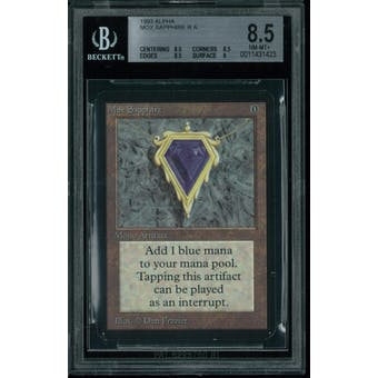 Magic the Gathering Alpha Mox Sapphire BGS 8.5 (8.5, 8.5, 8.5, 8)