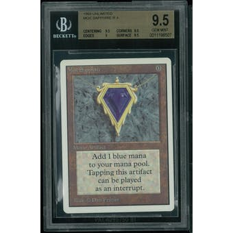 Magic the Gathering Unlimited Mox Sapphire BGS 9.5 (9.5, 9.5, 9, 9.5)