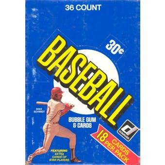 1981 Donruss Baseball Wax Box