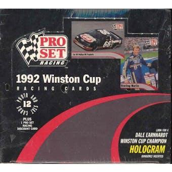 1992 Pro Set Winston Cup Racing Box