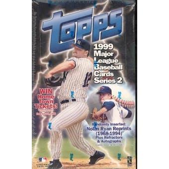 1999 Topps Series 2 Baseball 36 Pack Box