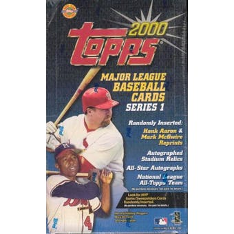 2000 Topps Series 1 Baseball Jumbo Box