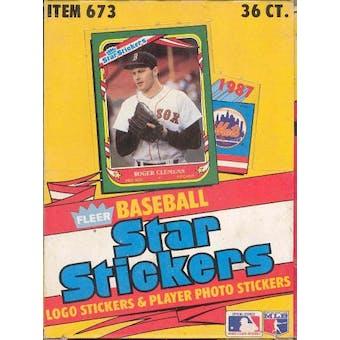 1987 Fleer Star Stickers Baseball Wax Box