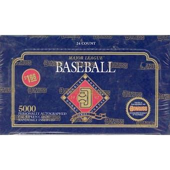 1992 Donruss Series 1 Baseball Jumbo Box