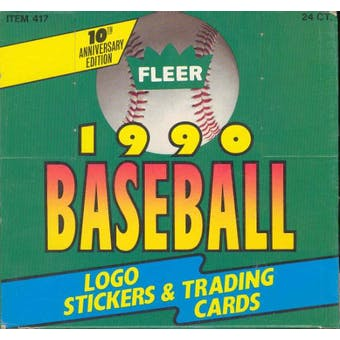 1990 Fleer Baseball Jumbo Box