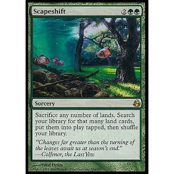 Magic the Gathering Morningtide Single Scapeshift FOIL - MODERATE PLAY (MP) Sick Deal Pricing