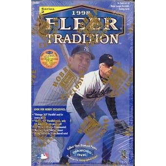 1998 Fleer Tradition Series 2 Baseball Hobby Box