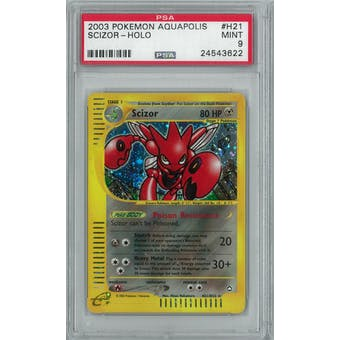 Pokemon Aquapolis Scizor H21/H32 Holo Rare PSA 9
