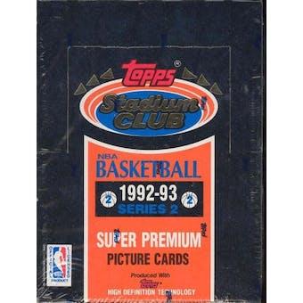 1992/93 Topps Stadium Club Series 2 Basketball Hobby Box