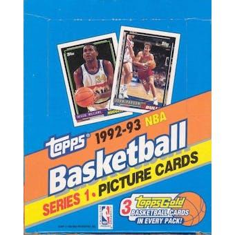 1992/93 Topps Series 1 Basketball Rack Box