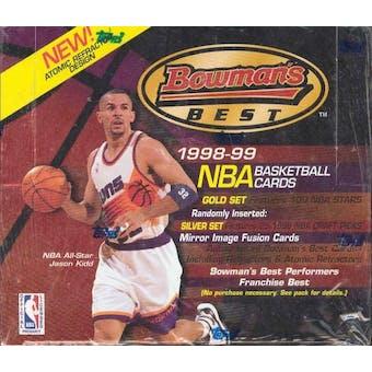 1998/99 Bowman Best Basketball 20 Pack Box