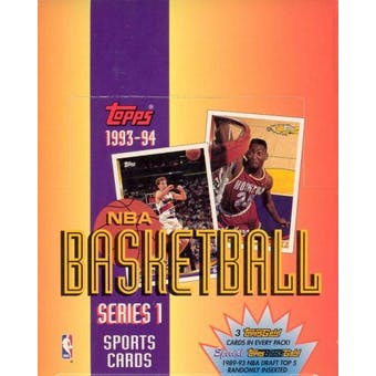 1993/94 Topps Series 1 Basketball Rack Box