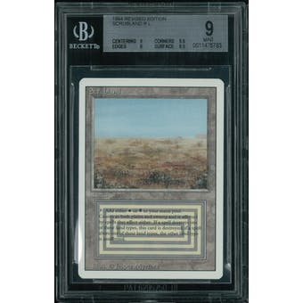 Magic the Gathering 3rd ed Revised Scrubland BGS 9 (9, 9.5, 9, 8.5)