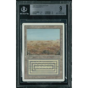 Magic the Gathering 3rd Ed Revised Scrubland BGS 9 (9.5, 9, 9, 9)