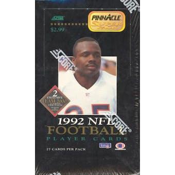 1992 Pinnacle Football Superpak Wax Box