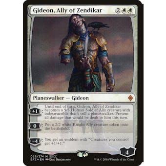 Magic the Gathering SDCC 2016 Single Gideon, Ally of Zendikar Foil - NEAR MINT (NM)