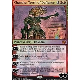 Magic the Gathering SDCC 2017 Promo Chandra, Torch of Defiance Foil - Near Mint (NM)