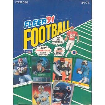 1991 Fleer Football Rack Box