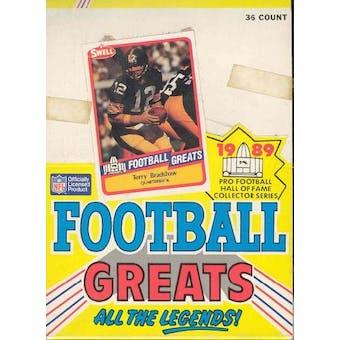 1989 Swell Greats Football Wax Box