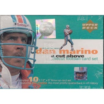 1997 Upper Deck Dan Marino Die Cut Football Set