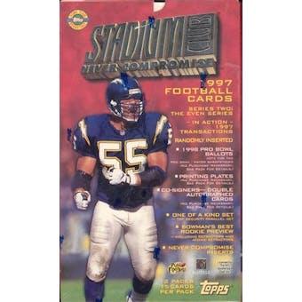 1997 Topps Stadium Club Series 2 Football Jumbo Box