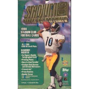 1998 Topps Stadium Club Football Jumbo Box