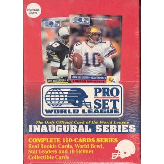 1991 Pro Set World League Football Wax Box