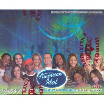 American Idol Season 4 Hobby Box (2005 Fleer)