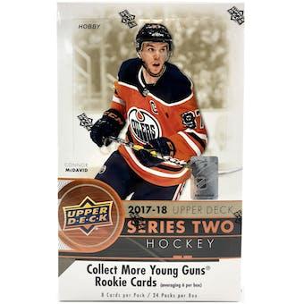 2017/18 Upper Deck Series 2 Hockey Hobby Box