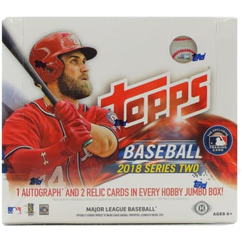 2018 Topps Series 2 Baseball Hobby Jumbo Box