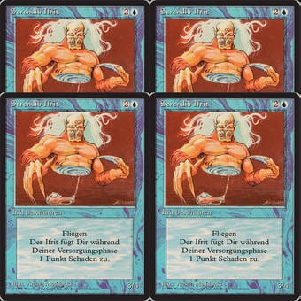 Magic the Gathering German Revised FBB PLAYSET Serendib Efreet - 4x NEAR MINT/SLIGHT PLAY (NM/SP)