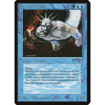 Magic the Gathering Arabian Nights Single Serendib Djinn - NEAR MINT minus (NM-) Sick Deal Pricing
