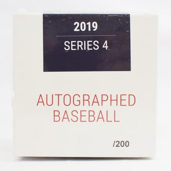 2019 Hit Parade Autographed Baseball Hobby Box - Series 4 - Mike Trout, Bryce Harper, & Derek Jeter!!!