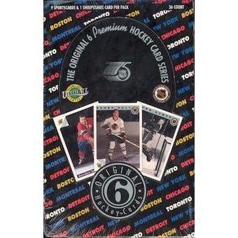 1991/92 Ultimate Original 6 Hockey Wax Box