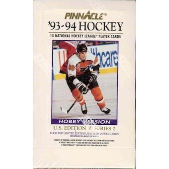 1993/94 Pinnacle Series 2 Hockey Hobby Box