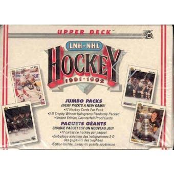 1991/92 Upper Deck English Low # Hockey Jumbo Box