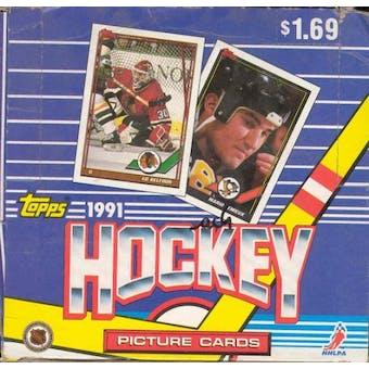 1991/92 Topps Hockey Jumbo Box