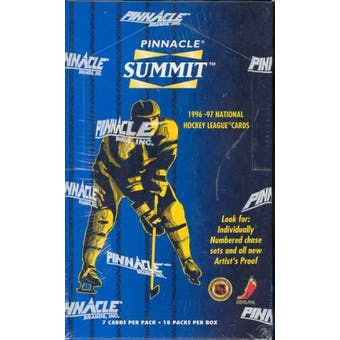 1996/97 Pinnacle Summit Hockey Box
