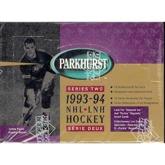1993/94 Parkhurst Series 2 Hockey Jumbo Box