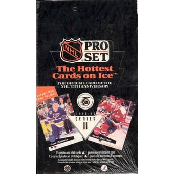 1991/92 Pro Set English/French Series 2 Hockey Box