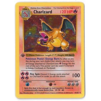 Pokemon Base Set 1 Single 1st Edition Charizard 4/102 - Shadowless LIGHT PLAY