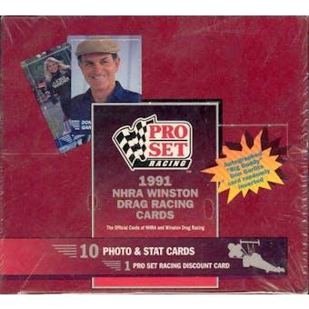 1991 Pro Set NHRA Winston Drag Racing Hobby Box