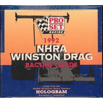 1992 Pro Set NHRA Winston Drag Racing Box