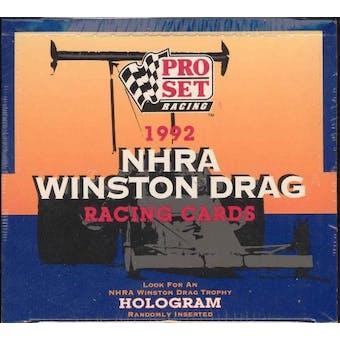 1992 Pro Set NHRA Winston Drag Racing Box