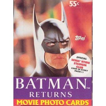 Batman Returns The Movie Wax Box (1992 Topps)
