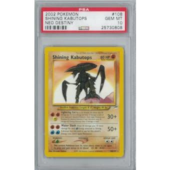 Pokemon Neo Destiny Shining Kabutops 108/105 PSA 10 GEM MINT