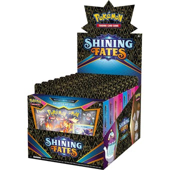 Pokemon Shining Fates Mad Party Pin Collection 6-Box Case
